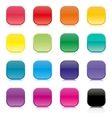 Set of multicolored square buttons vector image