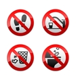 set prohibited signs - wc vector image vector image