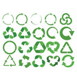 set recycling signs with arrows collection of vector image vector image
