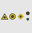 set sign lockdown pandemic stop covid-19 isolated vector image vector image