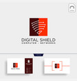 shield protection network logo template icon vector image vector image