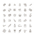 simple set drugs related line icons vector image