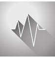 sound wave flat icon vector image vector image