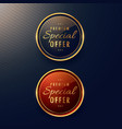 special offer label design set vector image