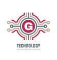 technology concept logo template design element vector image