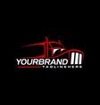 trucking logo design branding vector image