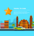 urban landscape of cuba different historical vector image