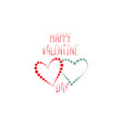 valentines day greeting card with love hearts vector image vector image