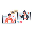 video call meeting distance web conversation vector image vector image
