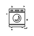 washing machine icon design vector image vector image