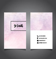 watercolor business card design 0706 vector image vector image