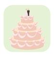 Wedding cake cartoon icon vector image vector image