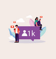 young people are looking for likes on social netwo vector image vector image
