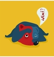 Funny Tired or Lazy Dog vector image