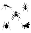 Insect icon set vector image