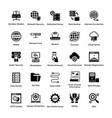web hosting glyph icon designs 4 vector image