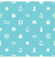 Simple seamless pattern with flat sea elements vector image