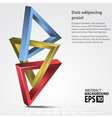 3D Shapes Triangles Abstract vector image vector image