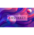 abstract gradient background with balls and frame vector image