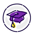 academic hat is an exclusive logo avatar sign vector image