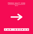 arrow icon symbol graphic elements for your vector image vector image