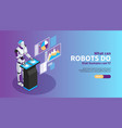 artificial intelligence poster vector image vector image