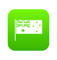 australian flag icon digital green vector image