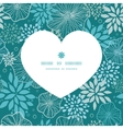 blue and gray plants heart silhouette pattern vector image vector image