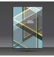 brochure design layout template in A4 vector image