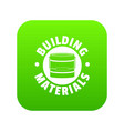 building material icon green vector image