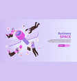 business space horizontal banner vector image vector image