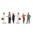 cartoon arab men and women vector image