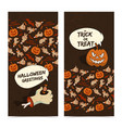 Cartoon halloween vertical banners