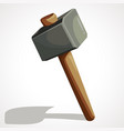 cartoon sledge hammer vector image vector image