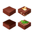 chocolate fudge homemade traditional piece of vector image