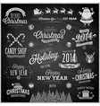 christmas emblems chalk vector image vector image