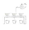 coffee maker Hand-drawn coffee drip vector image