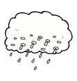 comic cartoon rain cloud vector image vector image