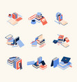 concept compositions with books coffee vector image