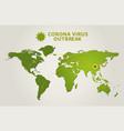 corona virus outbreak world map spread covid-19 vector image