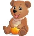 Cute Bear with Honey vector image vector image