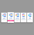 dating app onboarding elements icons set vector image vector image