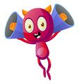 devil with megaphones on white background vector image vector image