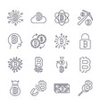 digital money bitcoin line icons minimal vector image