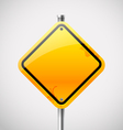 Empty road sign vector image vector image