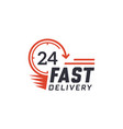 fast delivery 24 hour vector image vector image
