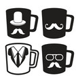 fathers day mug icons vector image vector image