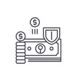 finance protection line icon concept finance vector image