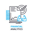 financial analytics concept outline icon linear vector image vector image
