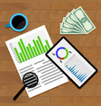 financial business statistics vector image vector image